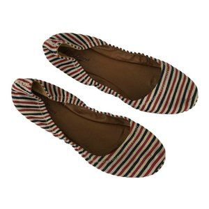 Lucky Brand Size 9.5 Emmie Flats Red White